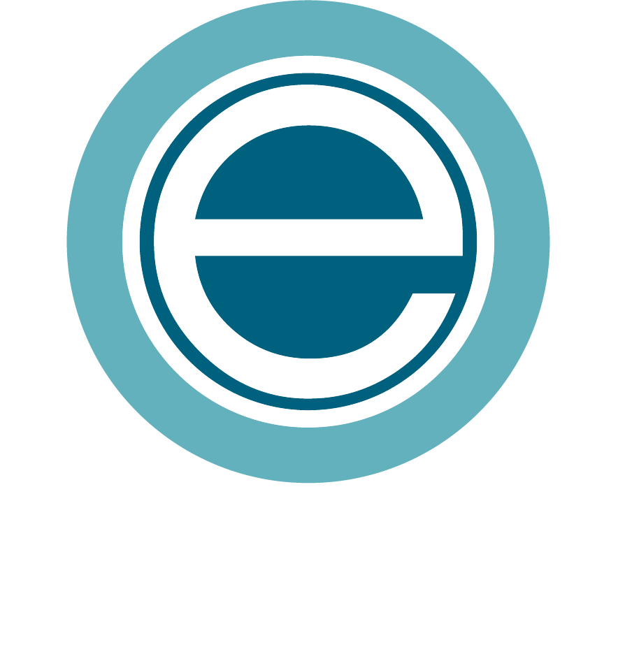 enclave logo with white letters