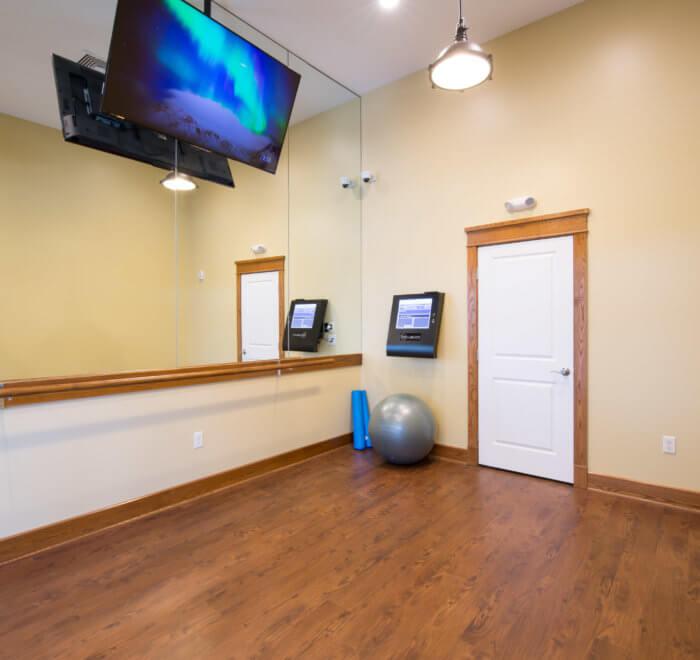 yoga virtual fitness room