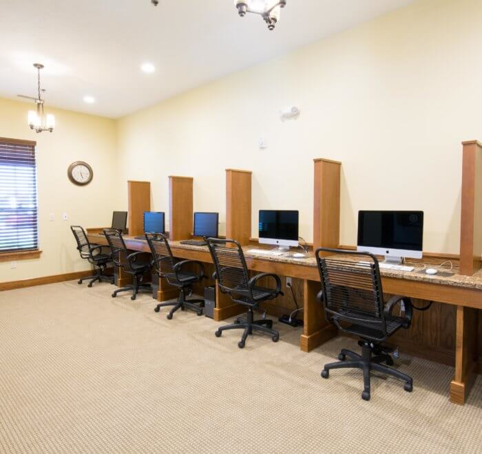 study room with community computers